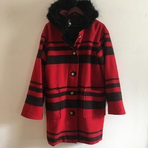 Tasha Polizzi Wool ButtonUp Hood Jacket
